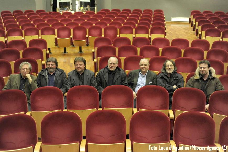 Udine, 03/02/2009 - Faber: dieci anni dopo - con RICCARDO BERTONCELLI, GIORGIO CORDINI, GUIDO HARARI, FRANZ DI CIOCCIO - Faber Days 2009 - Folk Club Buttrio - Foto Luca d